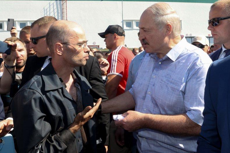 Alexander Lukashenko, Belarus, election, protests, workers, factory