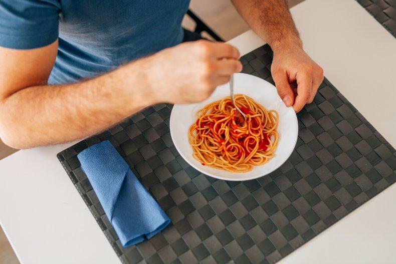 spaghetti, pasta, eating, stock, getty