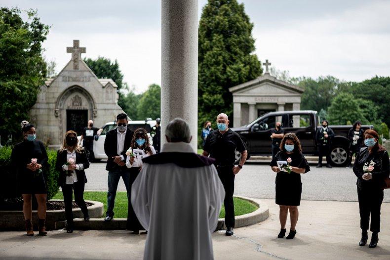 New York Queens coronavirus funeral June 2020