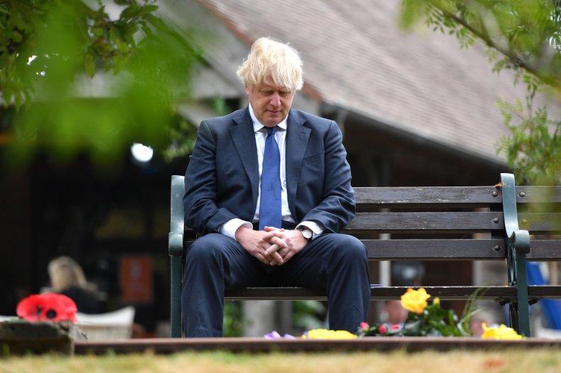 Boris Johnson at VJ memorial