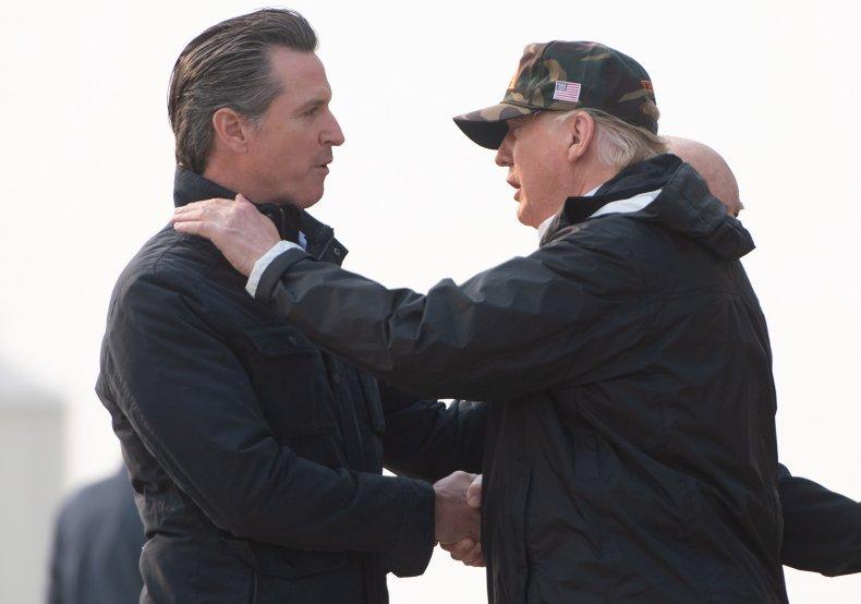 gavin newsom california governor trump