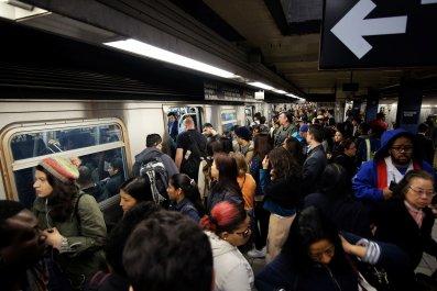 Crowded Subway New York City