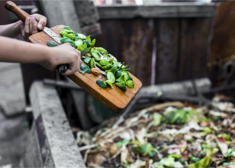 Composting food scraps is beneficial