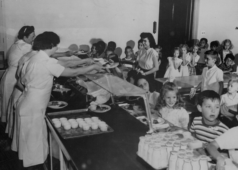 1946: Free lunch becomes available in schools