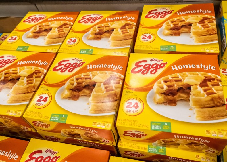 1953: Eggo Waffles pack the freezer section