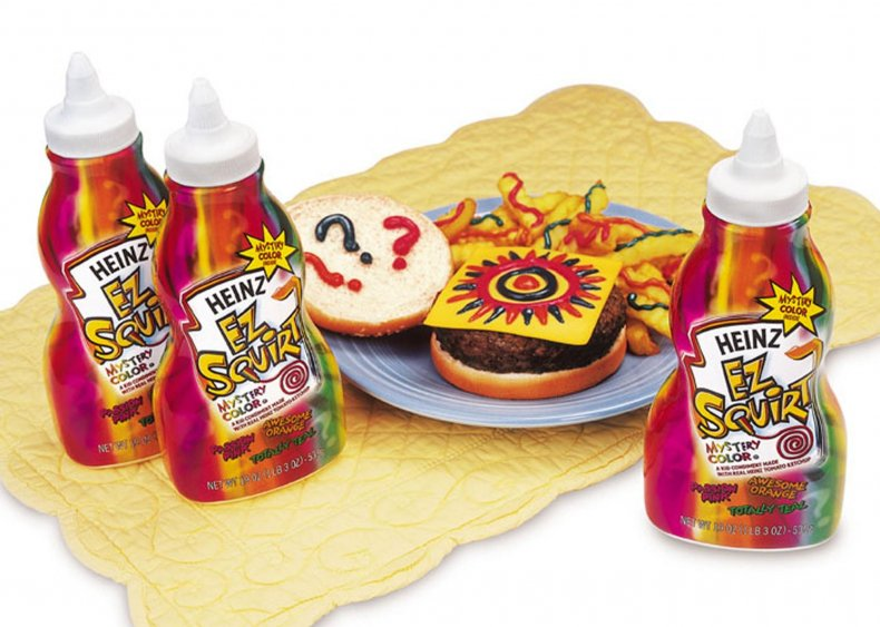 2000: Heinz creates rainbow-colored ketchup