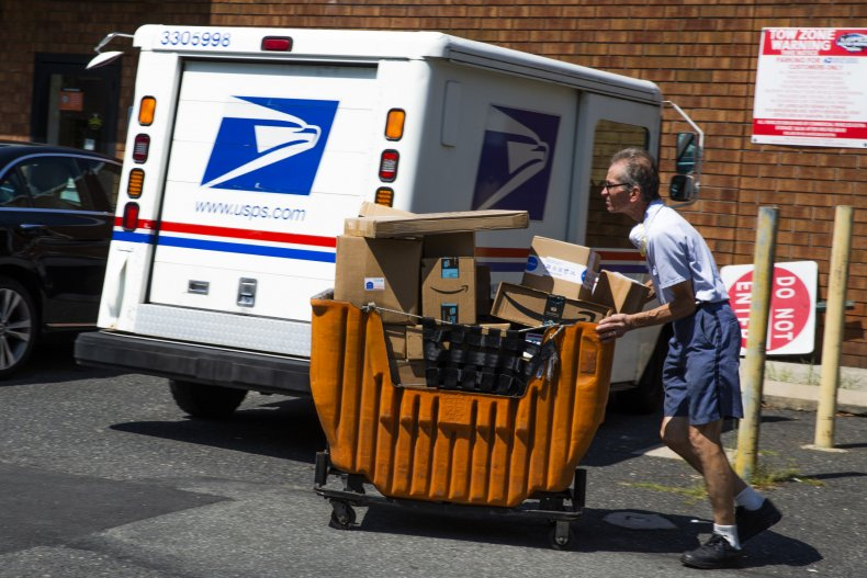 Mail-in voting, Postal Service