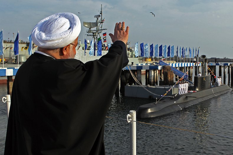 iran, rouhani, submarine, navy, parade
