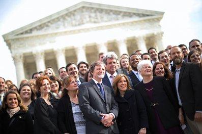 Jack Phillips celebrating his 2018 Supreme Court