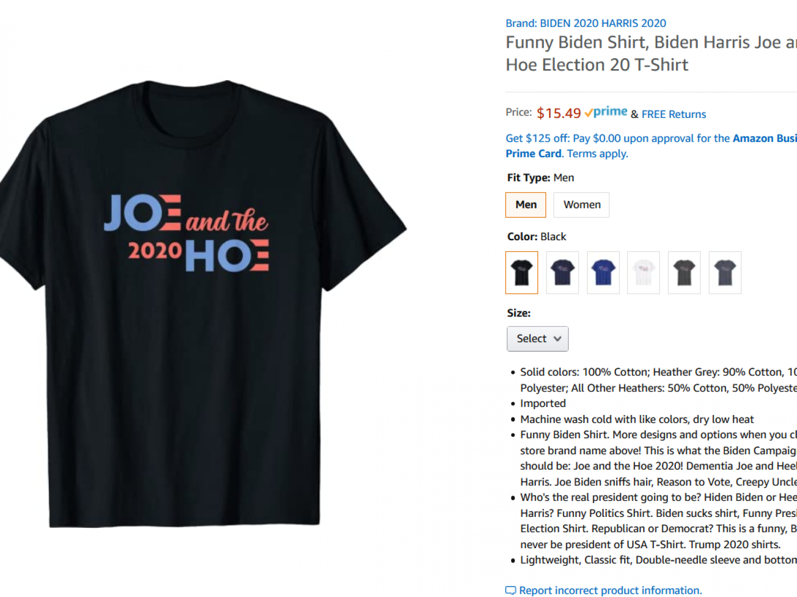 Amazon Sells T Shirts Referring To Kamala Harris By Offensive Term