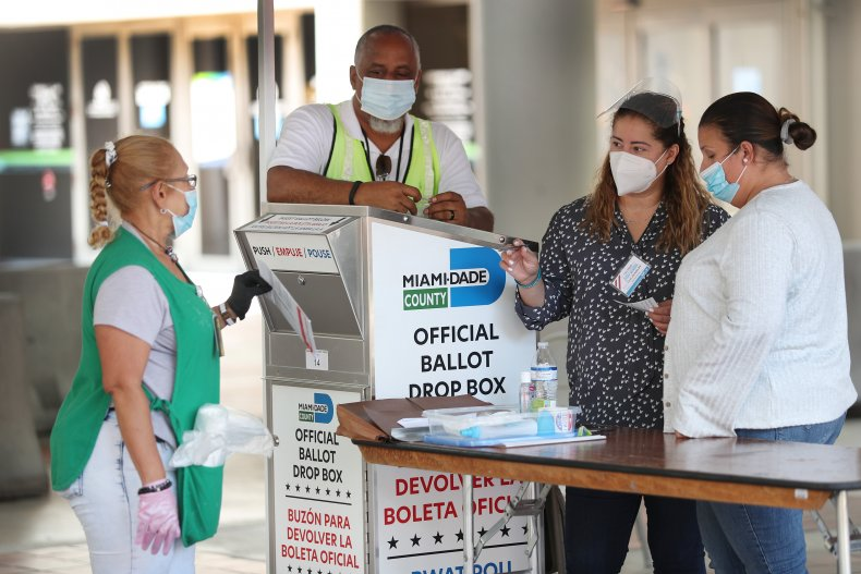 Florida primary mail-in voting ballots waiting delay