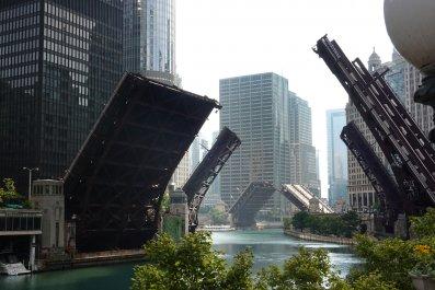 Chicago bridges Lori Lightfood activists people video