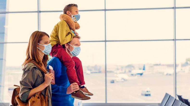 Family wearing NIOSH N95 Respirator Mask