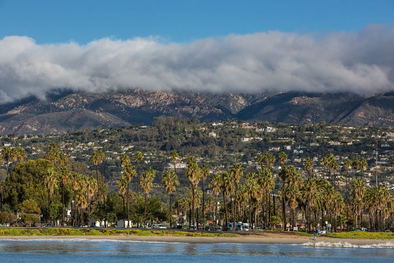 Montecito and Santa Barbara General View.
