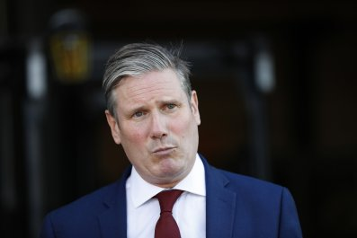 Labour leader Keir Starmer in Peterborough, England