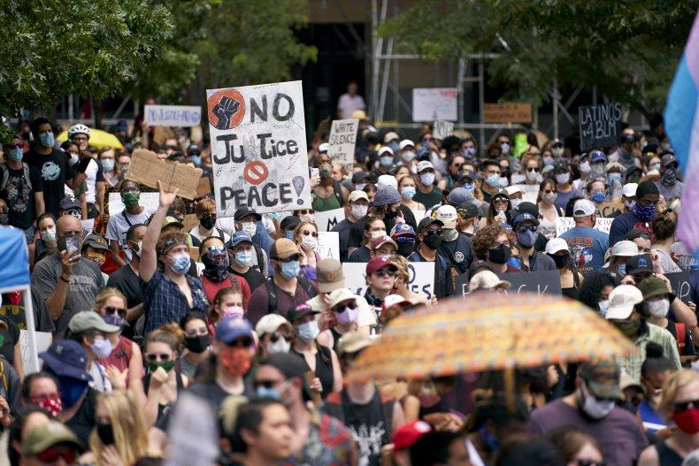 Protest in Dallas, Texas