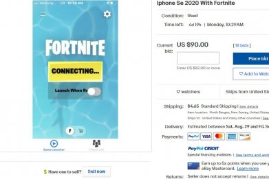 iphone with fortnite ebay