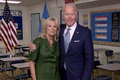 Joe and Dr. Jill Biden during DNC