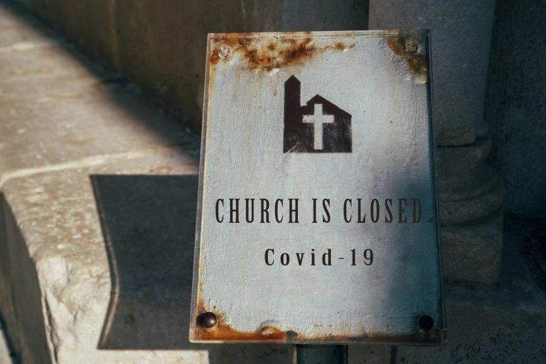 Church closed sign