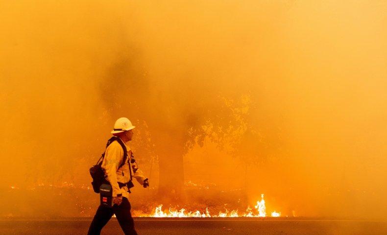 California firefighter LNU Lightning Complex August 2020