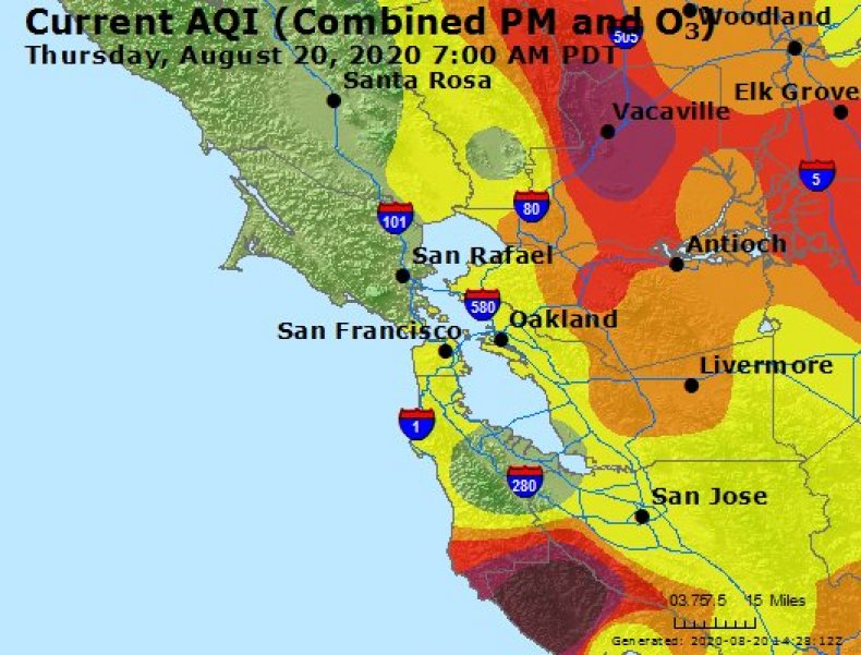 Bay Area Air Quality Map