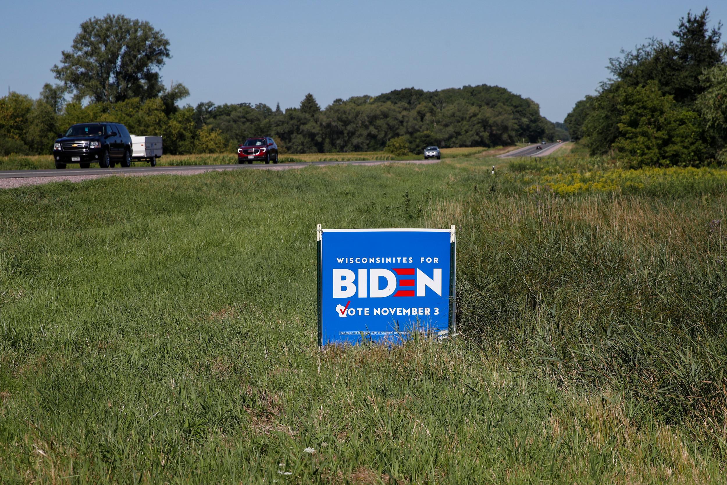 Joe Biden Donald Trump Campaign Yard Signs Pilfered In Florida County