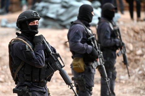 Georgian special police patrol the border
