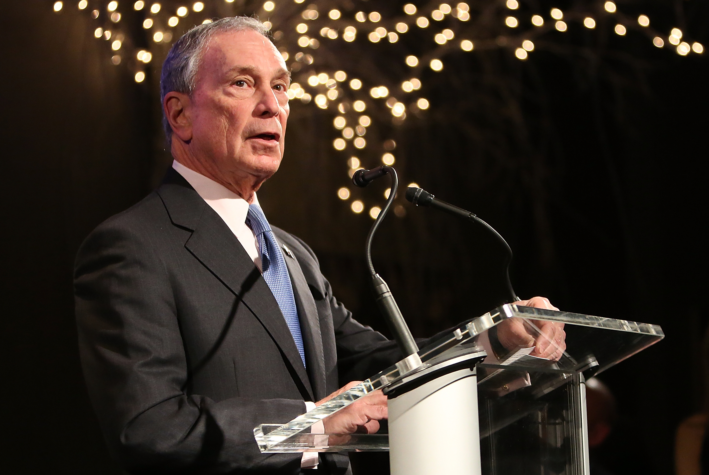 Mike Bloomberg trashes Donald Trump's business record in fiery DNC speech