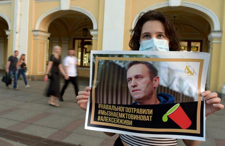 Navalny supporter