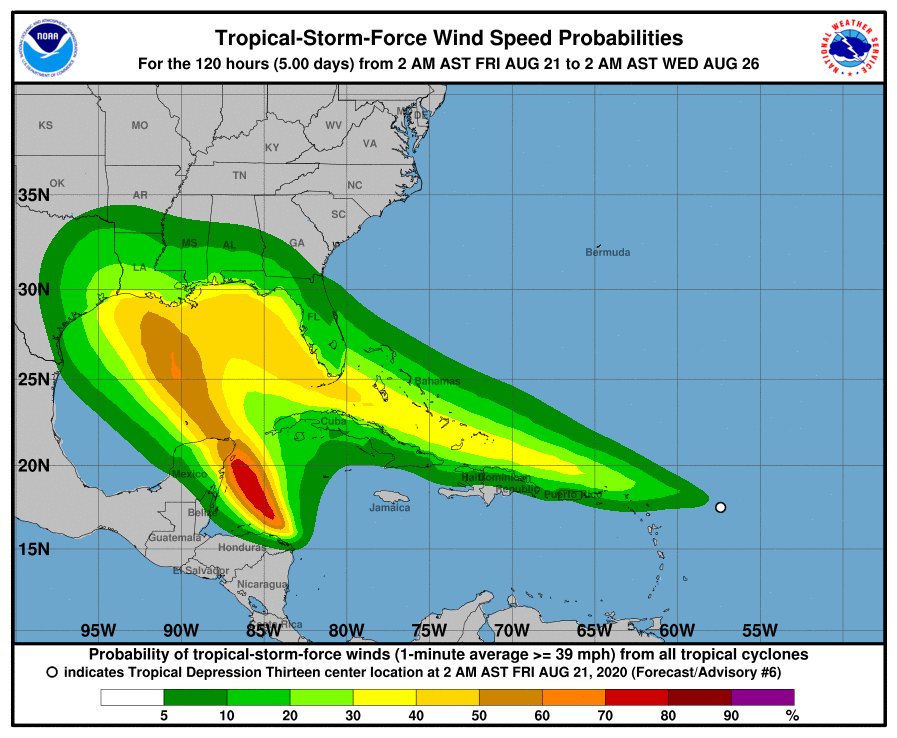 Tropical Depression 13 Forecast to Become Hurricane As It ...