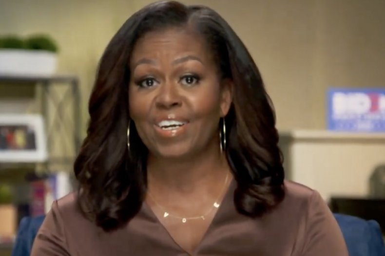 Michelle Obama, VOTE necklace, By Chari, DNC