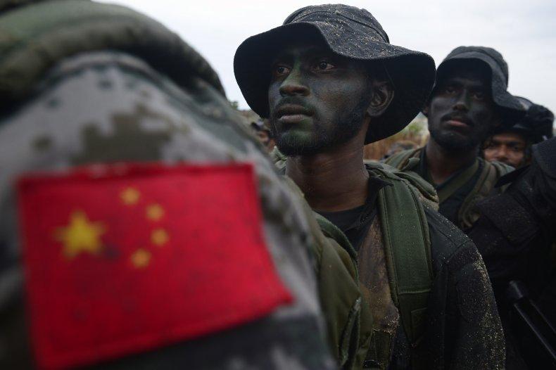 china, sri, lanka, military, exercises