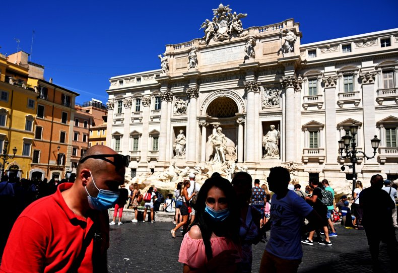 Trevi fountain Rome Italy August 2020