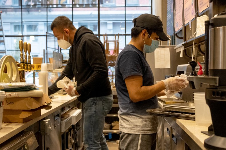Coffee shop enforces mask policy