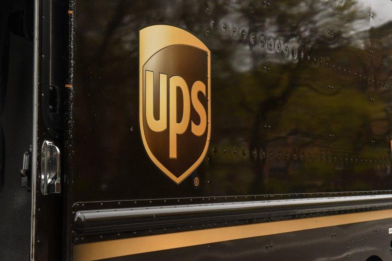 UPS logo on truck