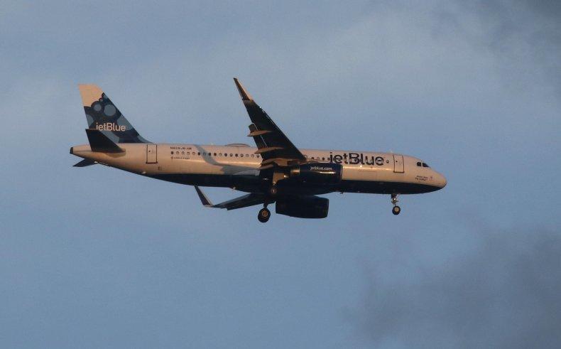 A JetBlue Airways airplane