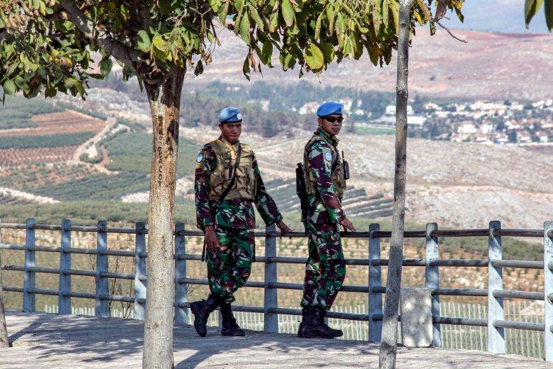 UNIFIL forces near Israeli-Lebanese border