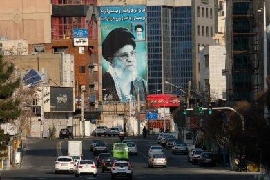 Mural of Ayatollah Khamenei in Tehran