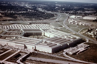 Aerial view of the Pentagon in 1966