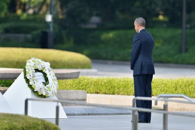 Then-President Barack Obama in Hiroshima, Japan