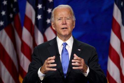 Joe Biden speaking at 2020 DNC