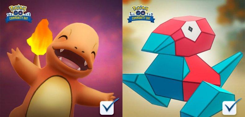 pokemon go community day vote charmander porygon