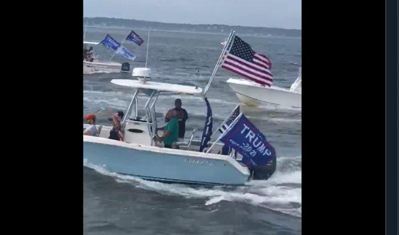 trumptilla boat parade long island