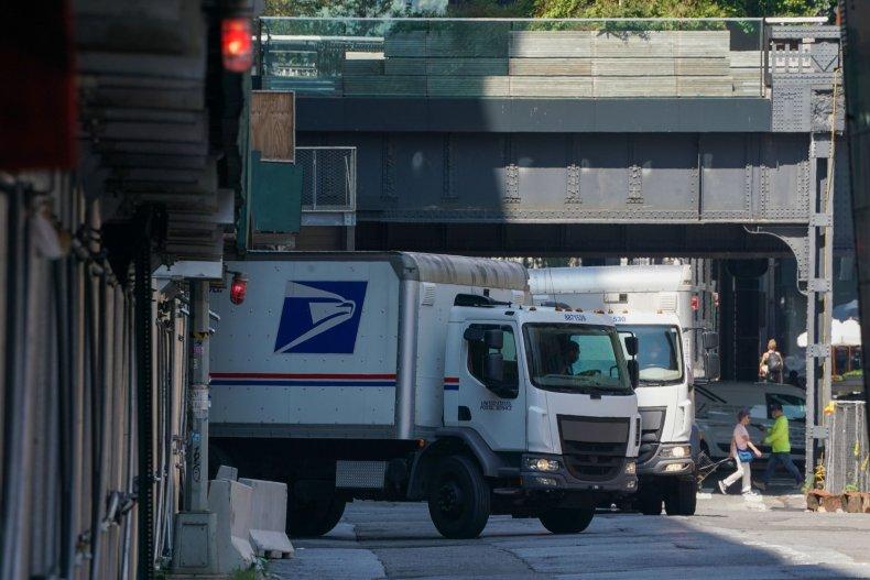 USPS trucks empty mail DeJoy delays