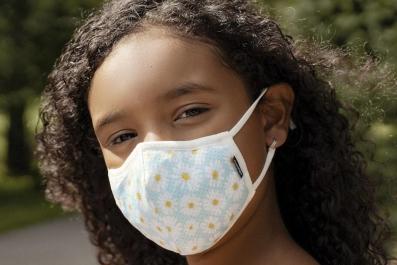 Child wearing Masksup Mask