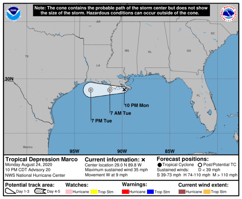 Tropical Depression Marco