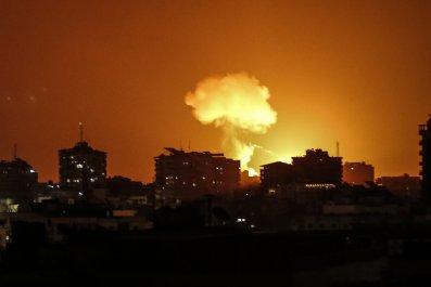 Israel, Gaza, Mike Pompeo, RNC, speech, airstrikes