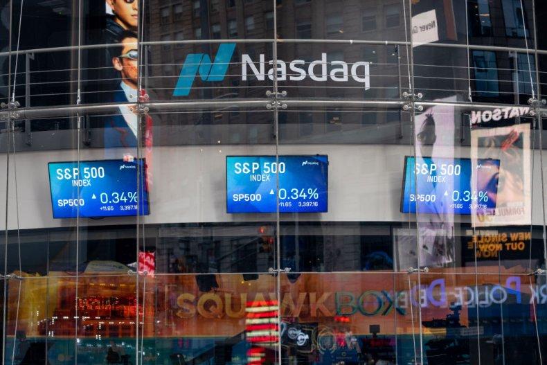 Nasdaq trading screens