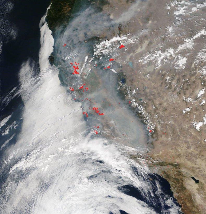 NASA california smoke