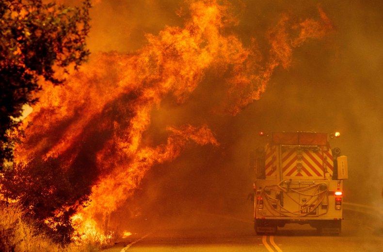 Hennessey Fire California August 2020